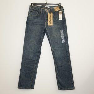 Wrangler Slim Straight Blue Denim Jeans 30 x 32